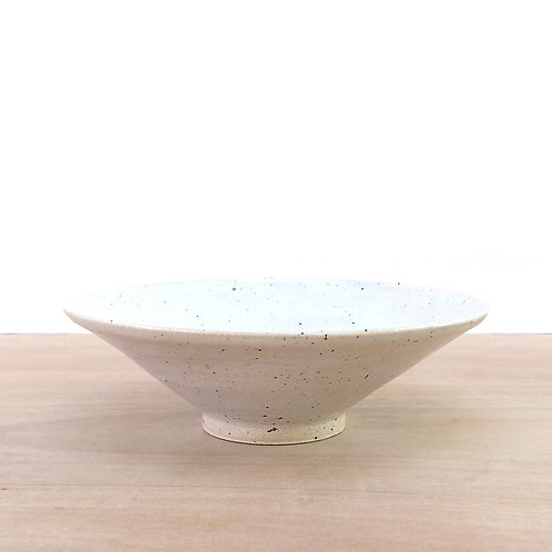 White speckled bowl