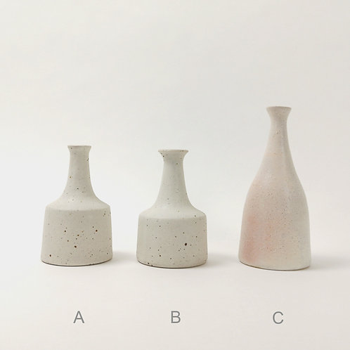 Miniature White Ceramic Stoneware vase (Select size for price)