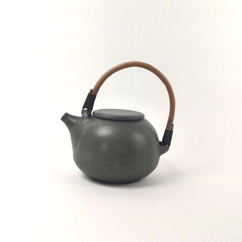 Black Ceramic 'Gourd' Teapot