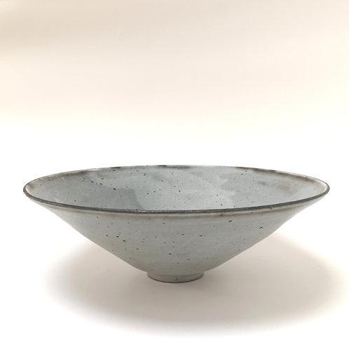 Grey ash large stoneware bowl