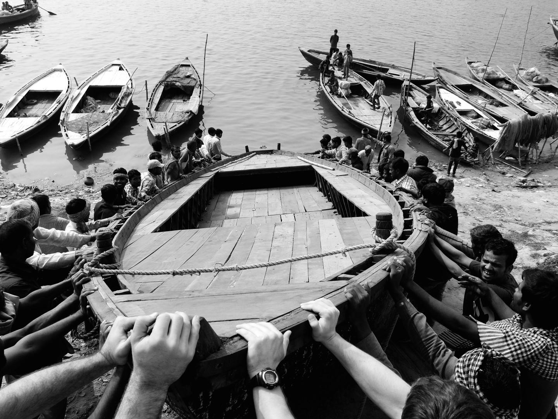 Baptizing the boat