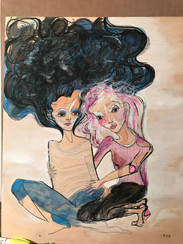 Two girls by Alex Royer