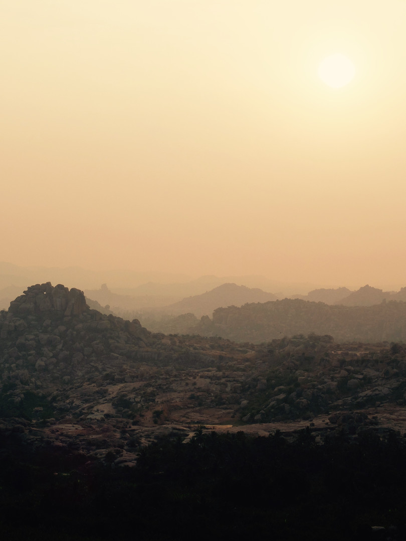 Sunrise in Hampi