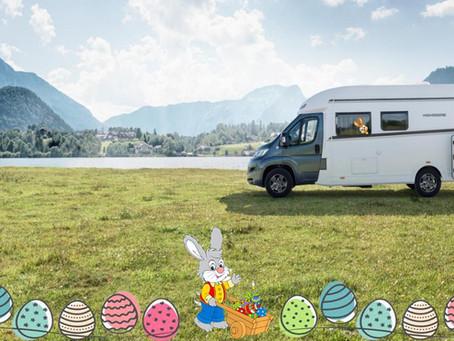 Ostern mit einem Camper verbringen.