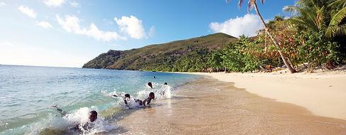 Fijian Kids on the beach © Chris McLenna