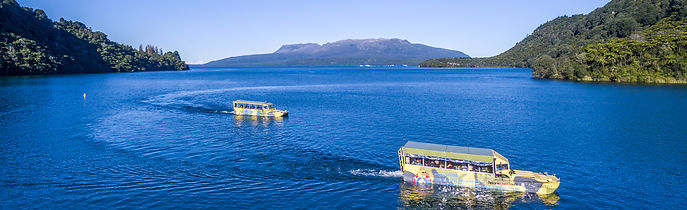 Rotorua Duck Tours am Lake Tarawera