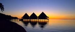 Sunset, Tahiti, Overwater Bungalow, Französisch Polynesien, Reisen