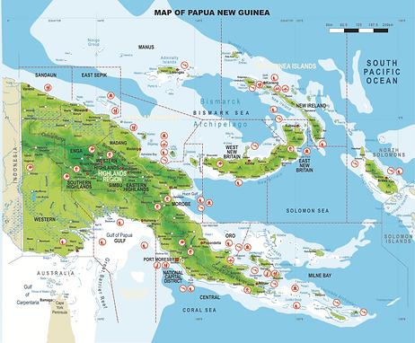 Papua Neuguinea Map © PNG Tourism
