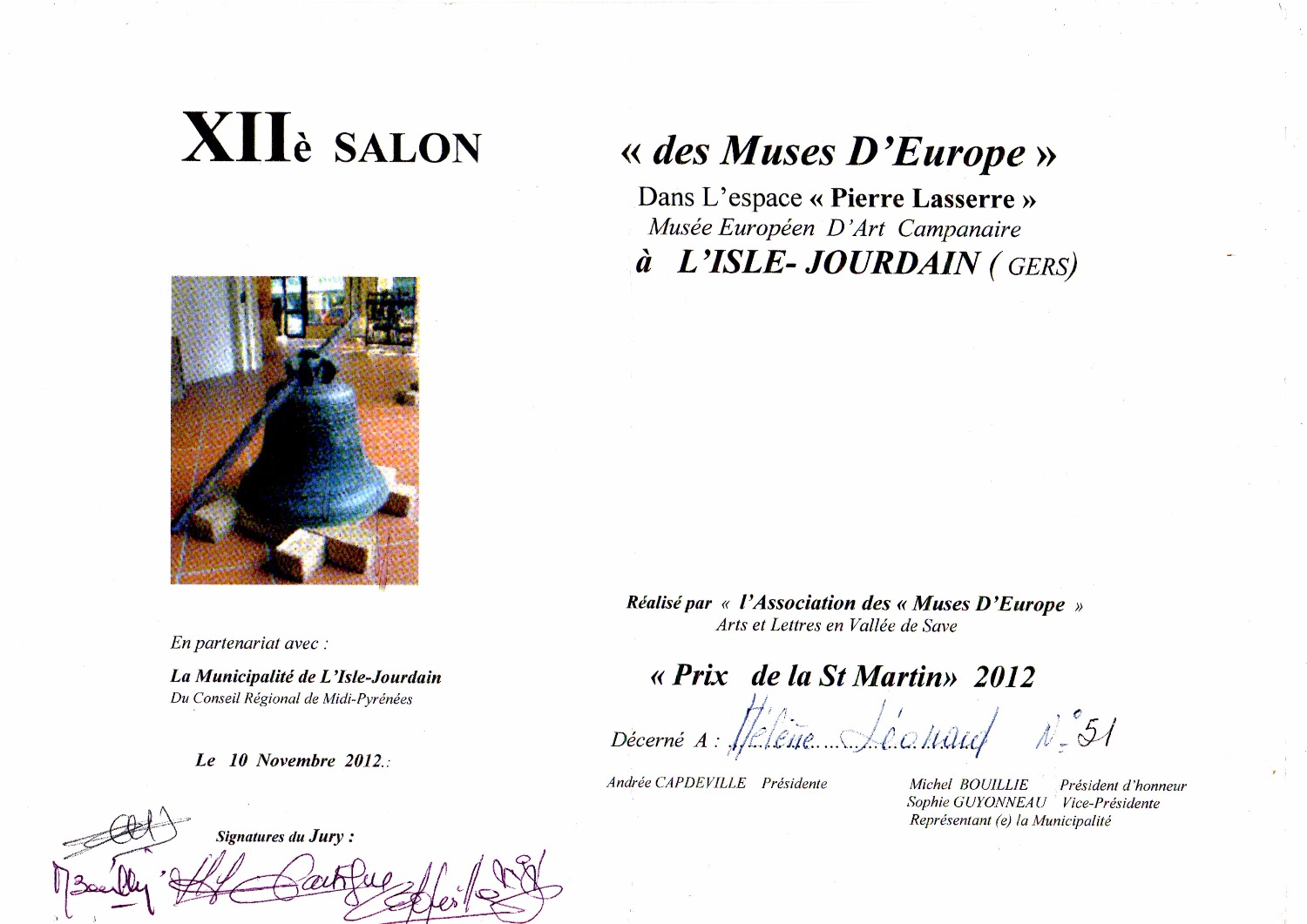 salon des Muses d'Europe 2012