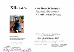 salon des Muses d'Europe 2012