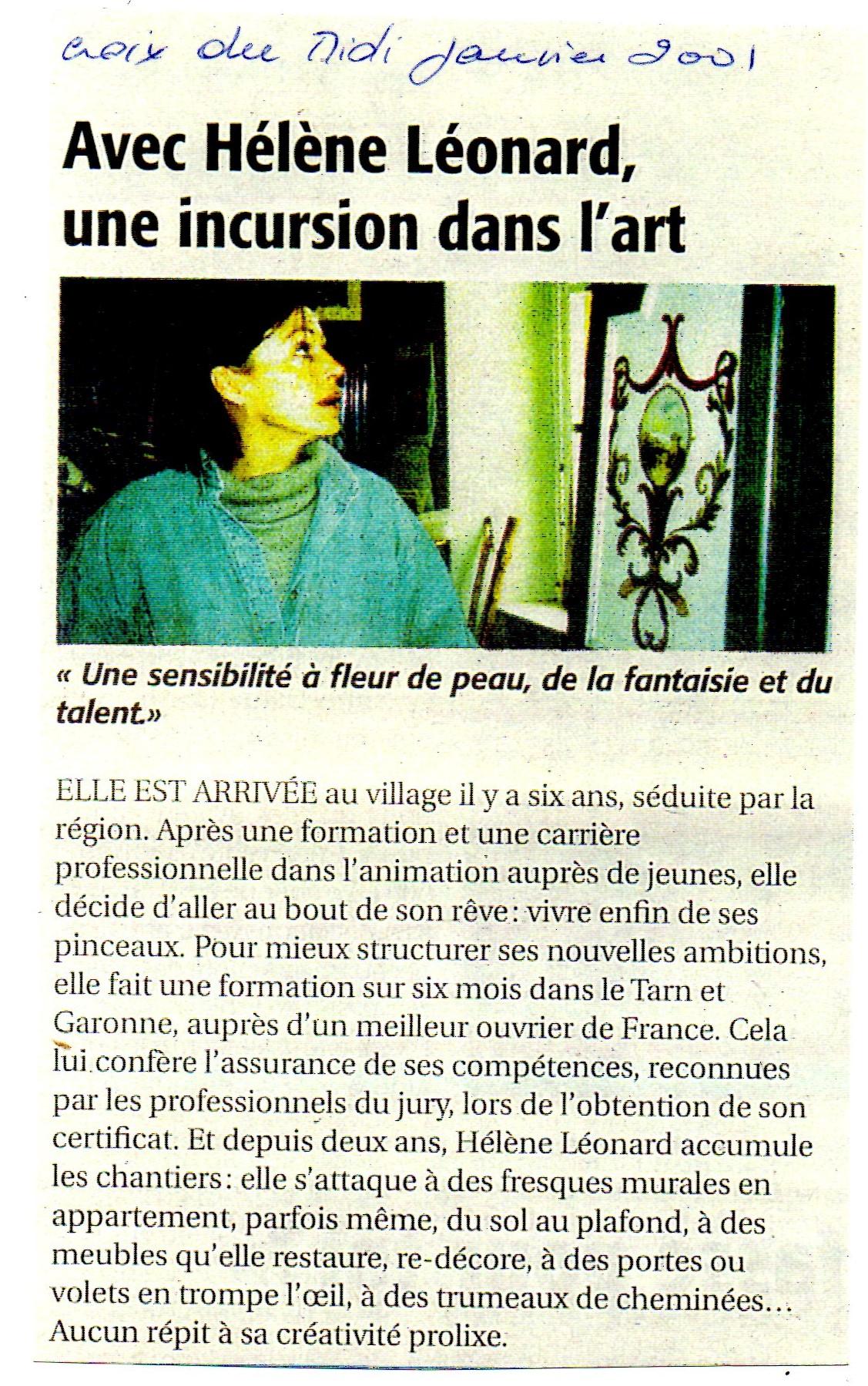 Article croix du midi 2001