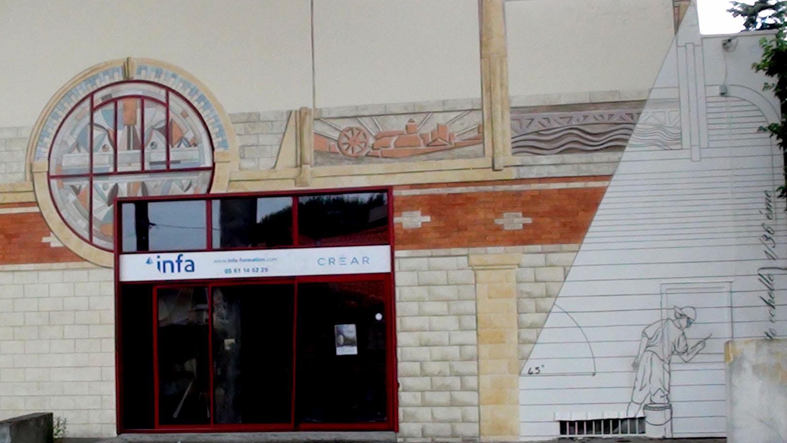 Décor mural de l'atelier