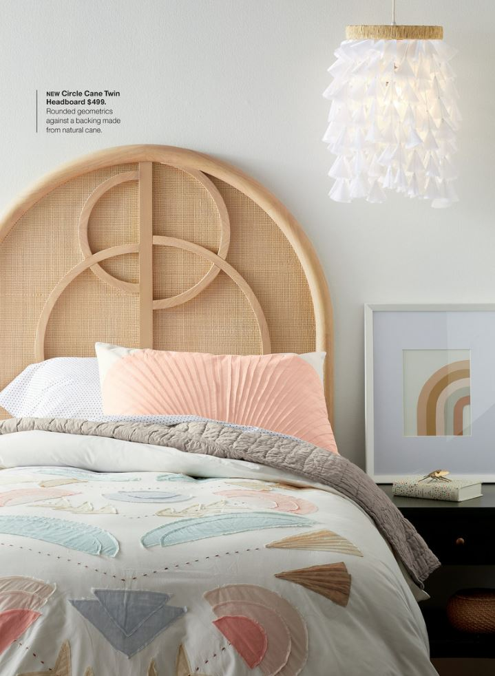 Crate & Kids Circle Cane Headboard