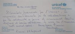 Lettera UNICEF