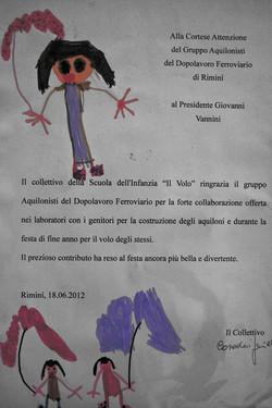 Lettera da alunni di una scuola