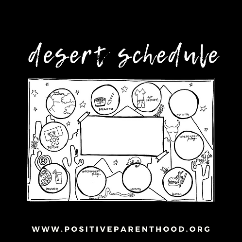 Early Childhood Schedule Desert- B&W