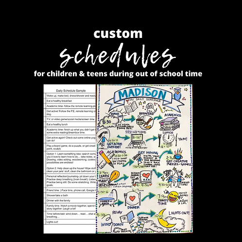 Custom Schedules for your Child or Teen