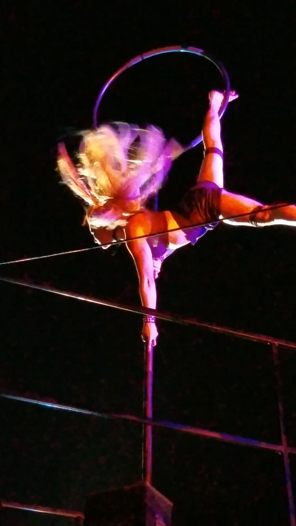 This photo is Jeanette performing in the Blood Yard at California's Great America Halloween Haunt in 2019.