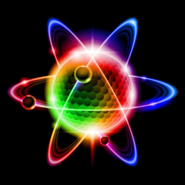 A render of a quantum particle.