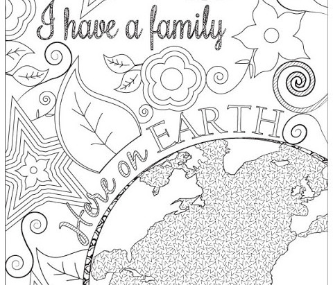 Family Here On Earth - Coloring Page