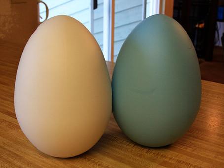 Gold Vinyl Jumbo Easter Eggs
