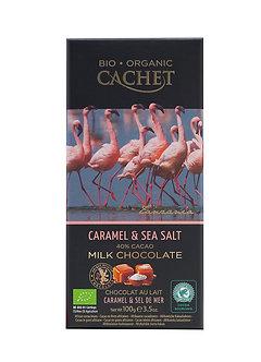 Bio Milchschokolade Karamell-Meersalz 100g