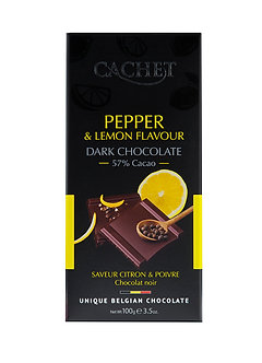 Zartbitterschokolade Zitrone - schwarzer Pfeffer 100g