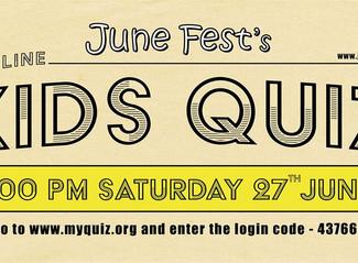 June Fest Kids Online Quiz