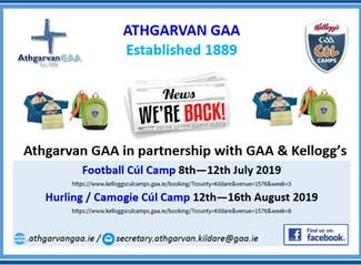 Athgarvan GAA Cúl Camp Booking