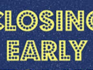 Early Pick Up Time: Thursday 24th November ***12:00 pm***