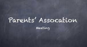 Parent Association Meeting, Tuesday 26th September
