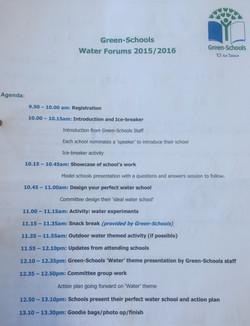 Water Forum Agenda
