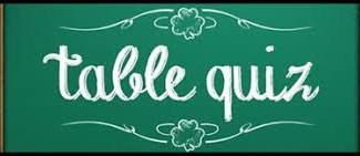 Table Quiz - Thursday 9th May