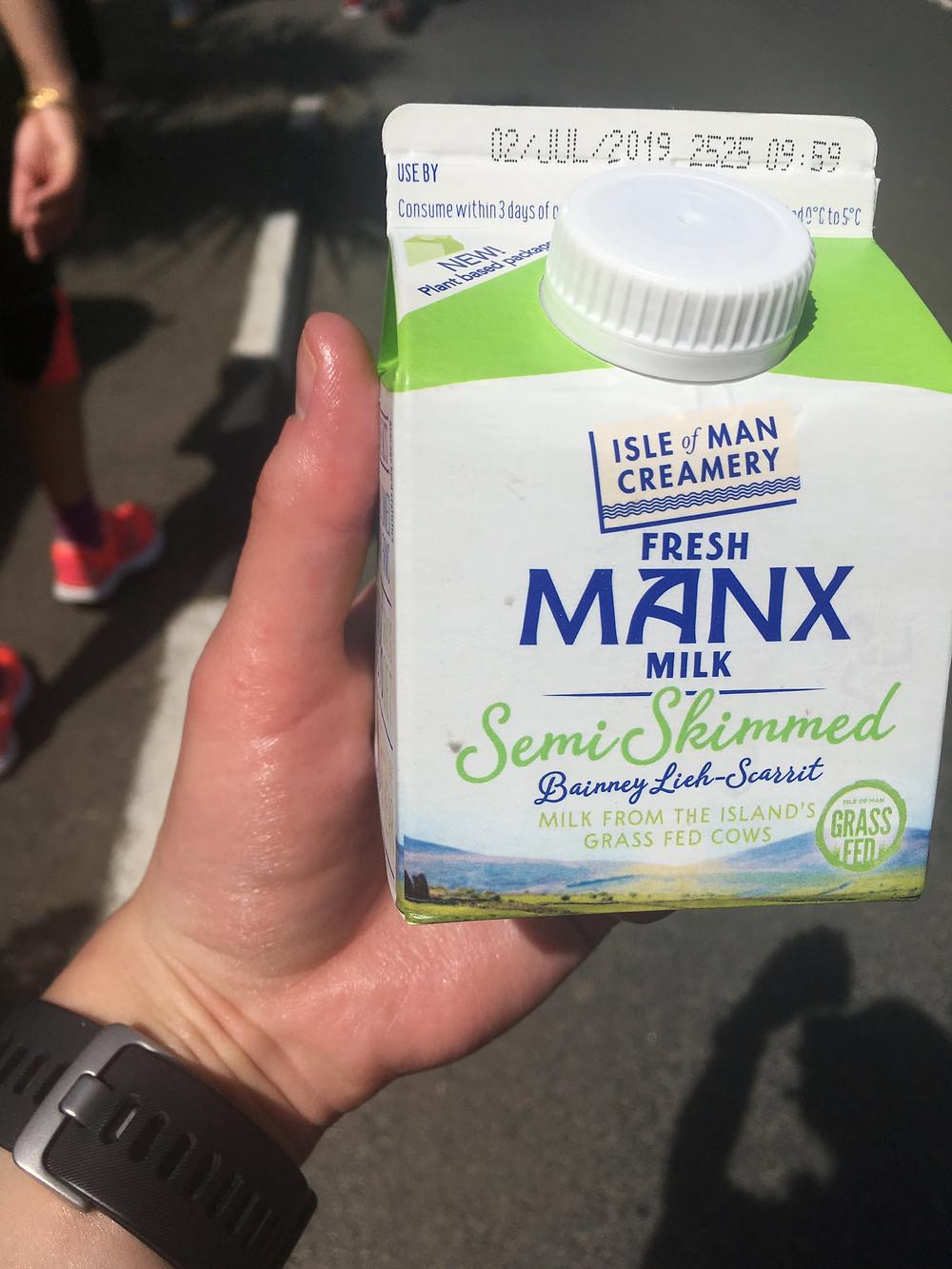 A carton of Manx milk