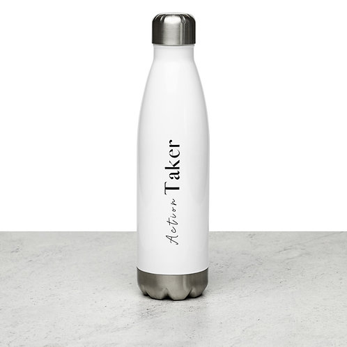 """Action Taker"" Stainless Steel Water Bottle"