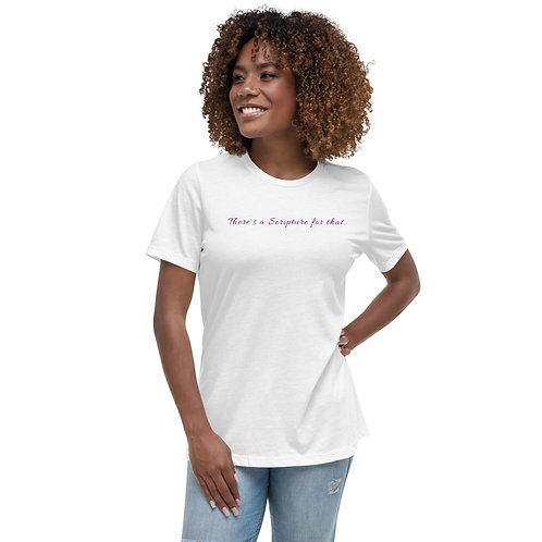 There's a Scripture for That (White/Purple Tee)