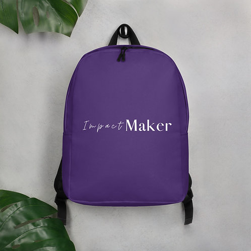 """Impact Maker"" Minimalist Backpack"