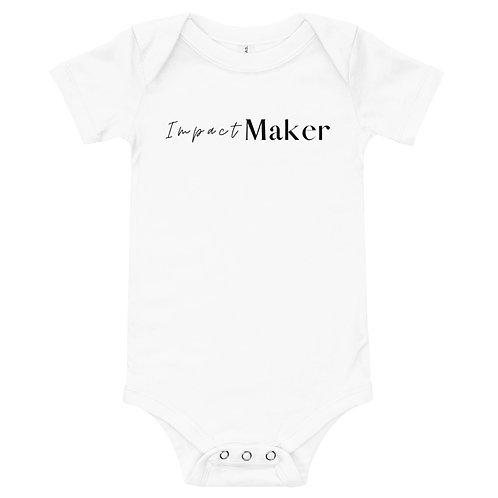 """""""Impact Maker"""" Baby short sleeve one piece (Light Colors)"""
