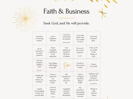 Faith & Business Bingo