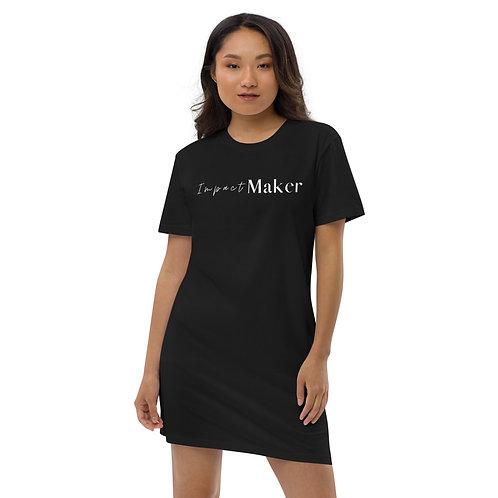 """Impact Maker"" Organic cotton t-shirt dress (Dark)"