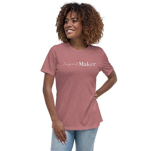 """""""Impact Maker"""" Women's Relaxed T-Shirt (Dark Tees)"""