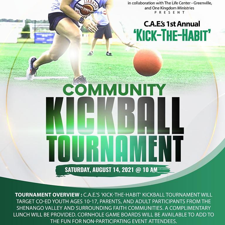 C.A.E.'s 1st Annual 'Kick-The-Habit' Kickball Tournament