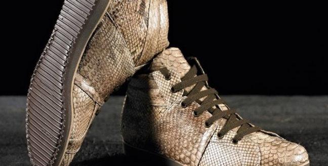 Sneakers Stringate in pitone realizzate a mano su misura in Italia