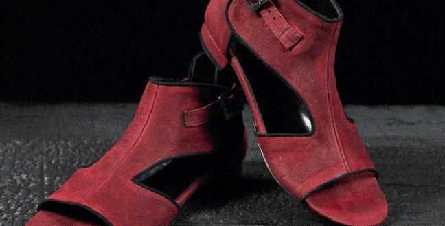 Sandali Sabot in camoscio realizzati a mano su misura in Italia