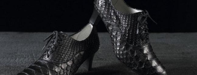 Mocassini Stringati in pitone realizzati a mano su misura in Italia