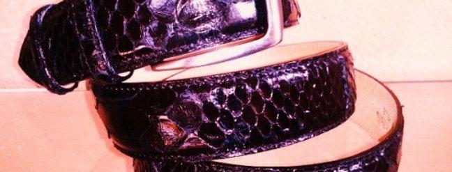 Cintura in pitonerealizzataa mano su misura in Italia