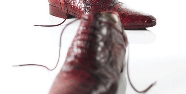 Mocassini Stringati in caimano realizzati a mano su misura in Italia
