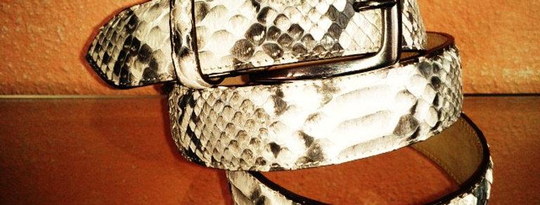 Cintura in pitonerealizzata a mano su misura in Italia