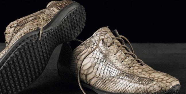 Mocassini Gommini in pitone realizzati a mano su misura in Italia