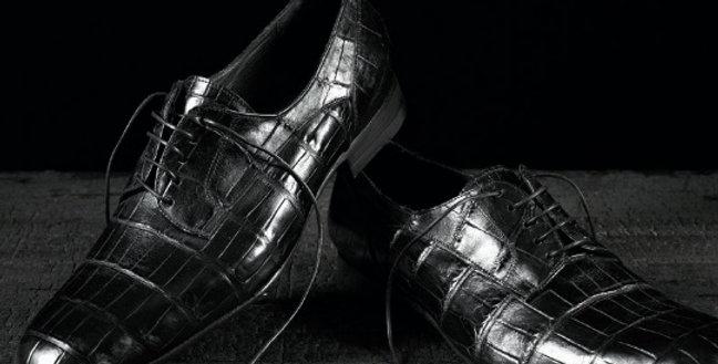 Mocassini Stringati in coccodrillo realizzati a mano su misura in Italia